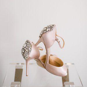 Badgley Mischka Women Dawn Dress Heel 9 Blush NWOB